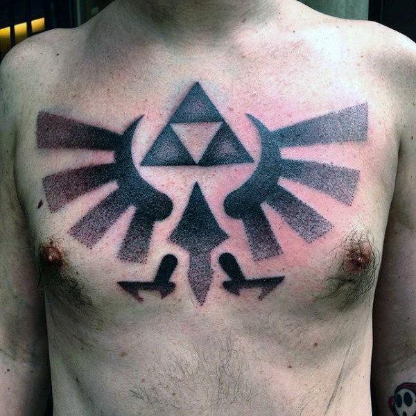 triforce tattoo chest