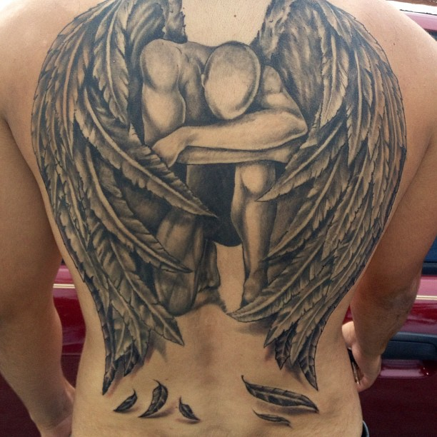fallen angel tattoo 1