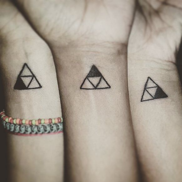 triforce tattoo wrist