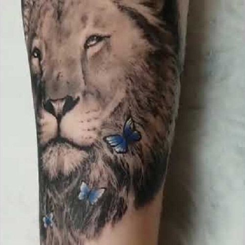 lion tattoo arm