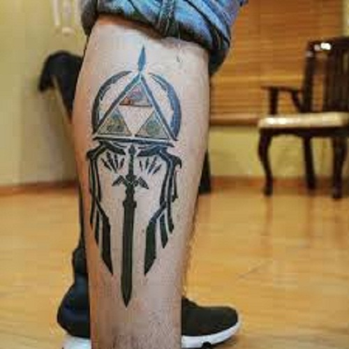 triforce tattoo calf
