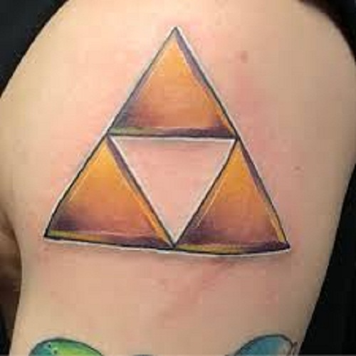 triforce tattoo bicep