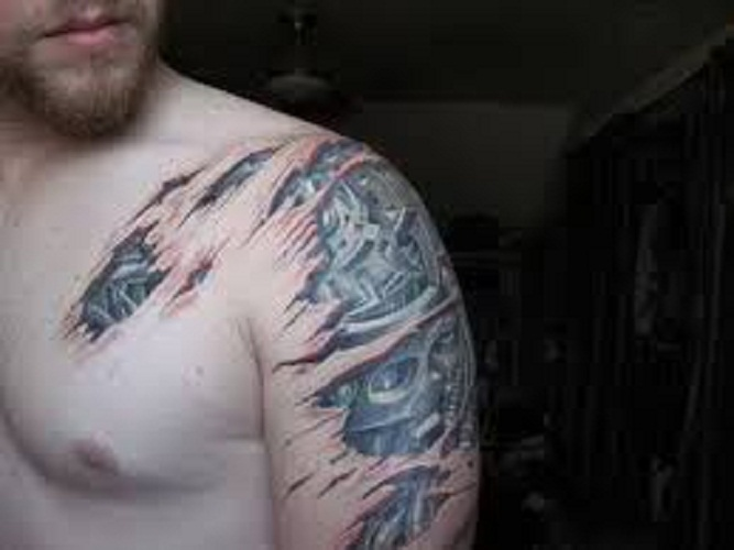 shoulder tattoos men