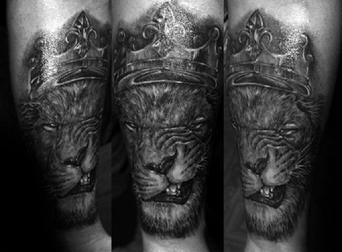 lion tattoo forearm
