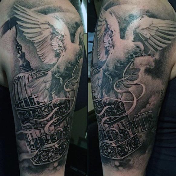 men dove tattoo 2