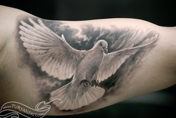 men dove tattoo 9
