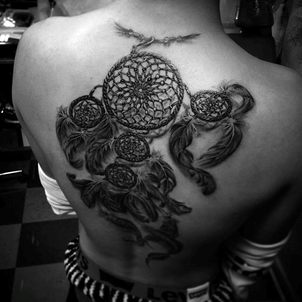 dream catcher tattoo back