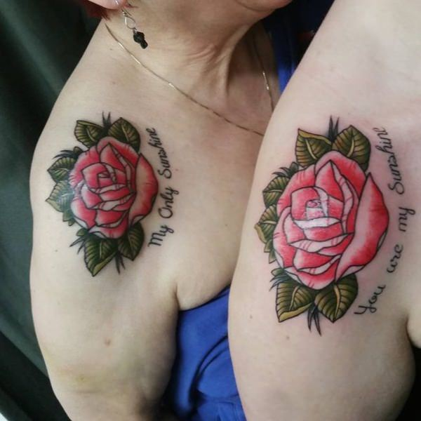 Small Tattoo Ideas For Mother And Daughter