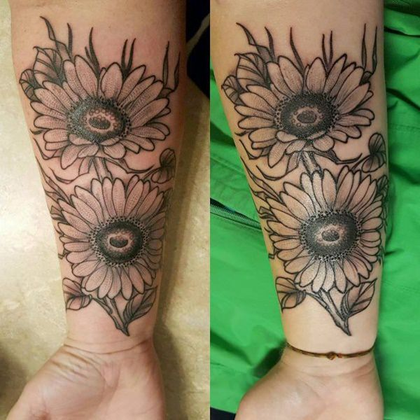 mother daughter flower tattoos