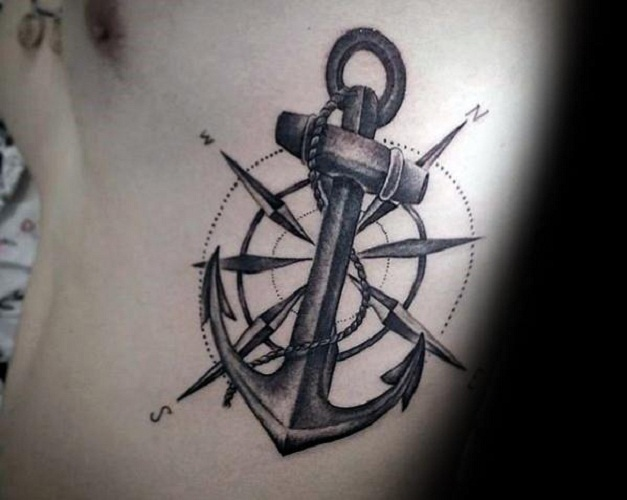 anchor tattoos ribs