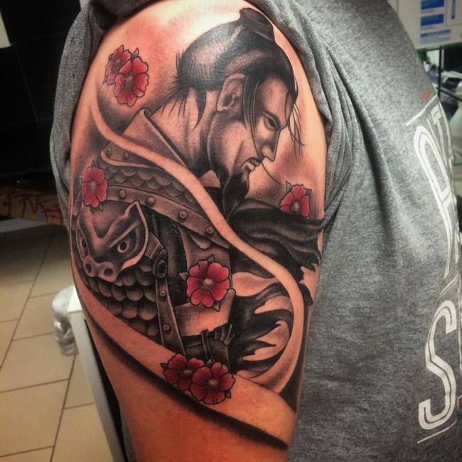 samurai tattoo men 8