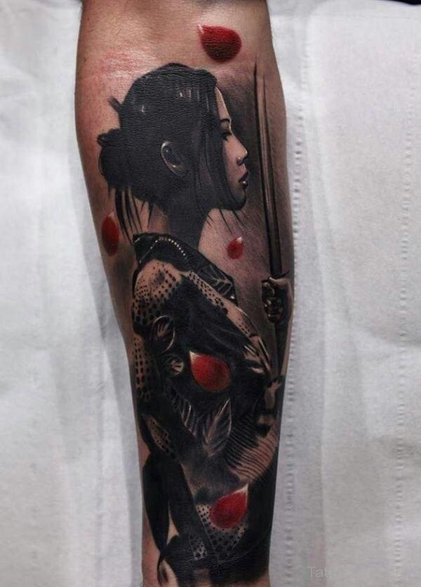 samurai tattoo women 10