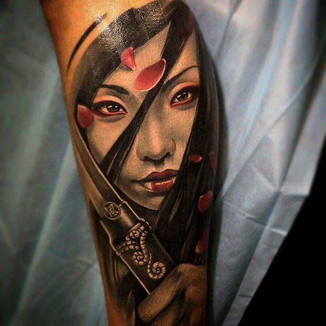 samurai tattoo women 3