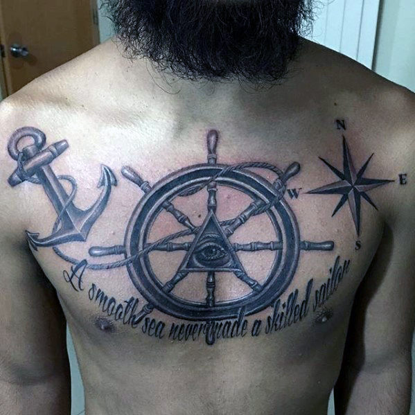 anchor tattoos chest