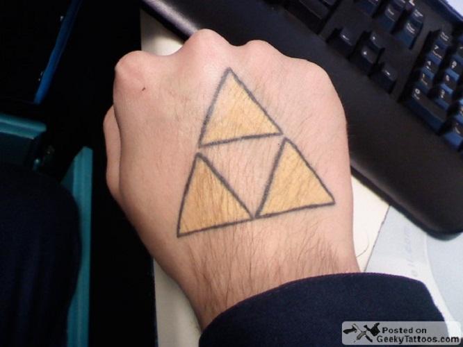 triforce tattoo hand