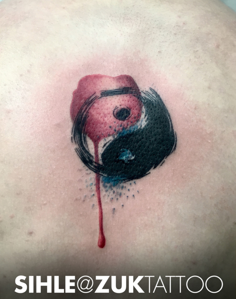 watercolor yin yang tattoo 10