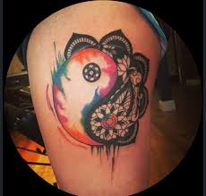 watercolor yin yang tattoo 11