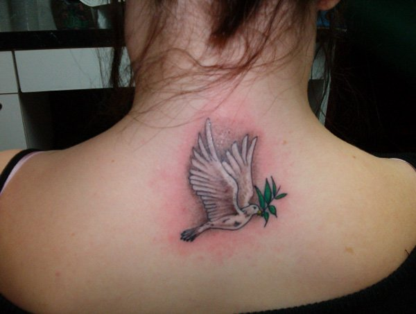 women dove tattoo 8