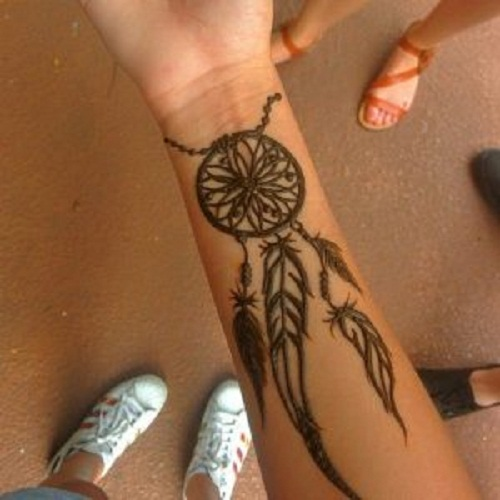 henna tattoo wrist