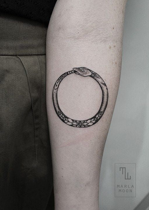 Ouroboros Tattoo Women 1