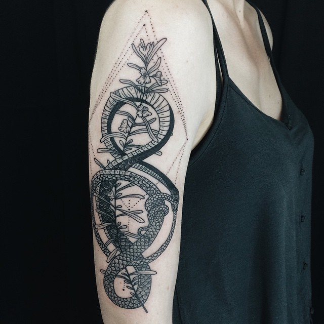 Ouroboros Tattoo Women 7