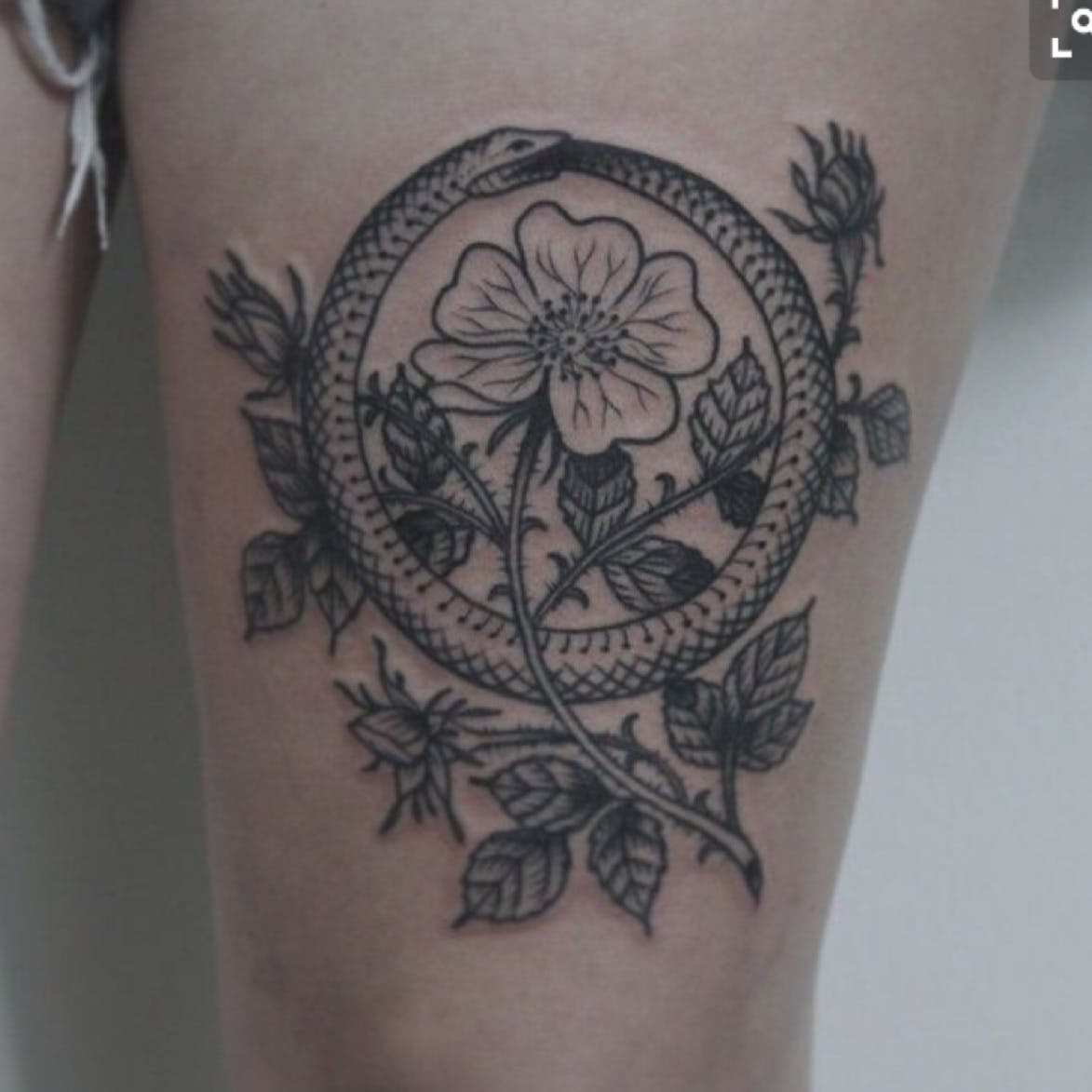 circle ouroboros tattoo 10