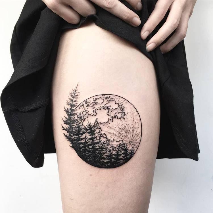 full moon tattoo 3