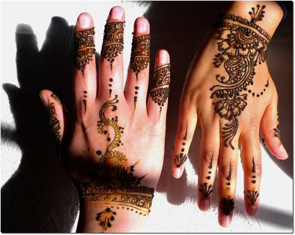 henna tattoo back of hands