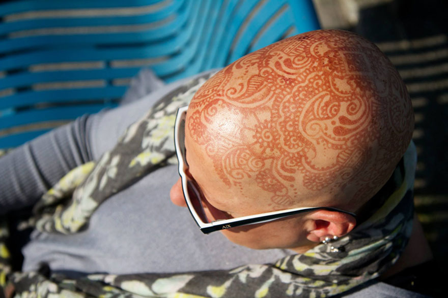 head henna tattoo