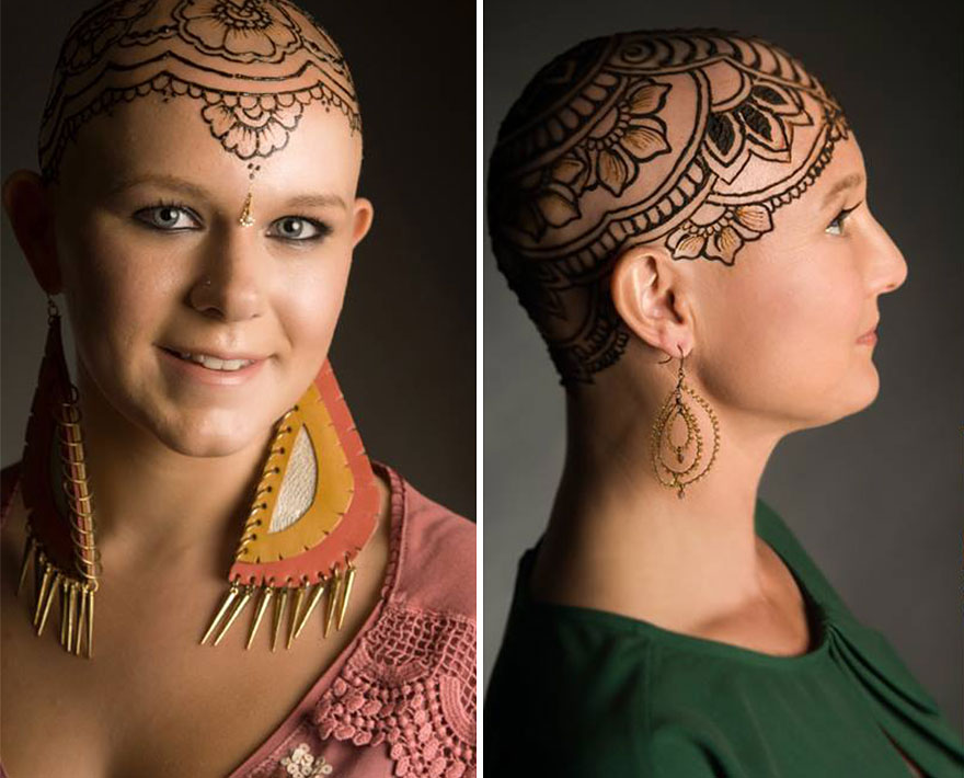 henna head tattoo