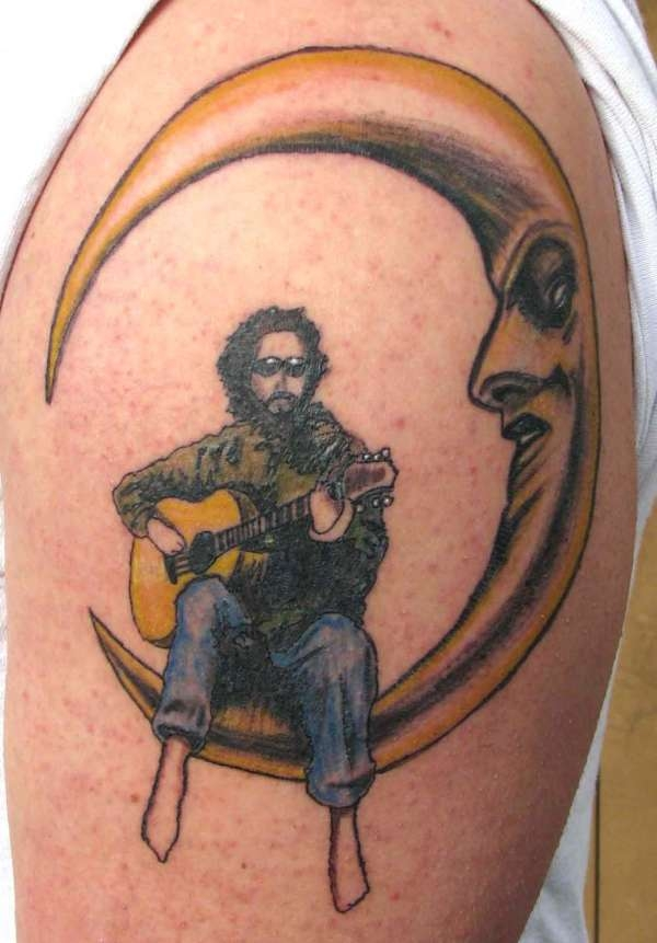 men moon tattoo 7