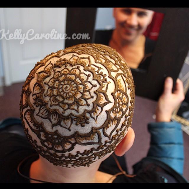 sahasrara head henna tattoo