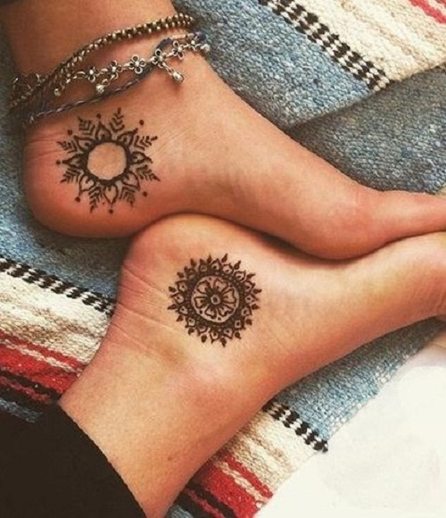 henna tattoos on heels
