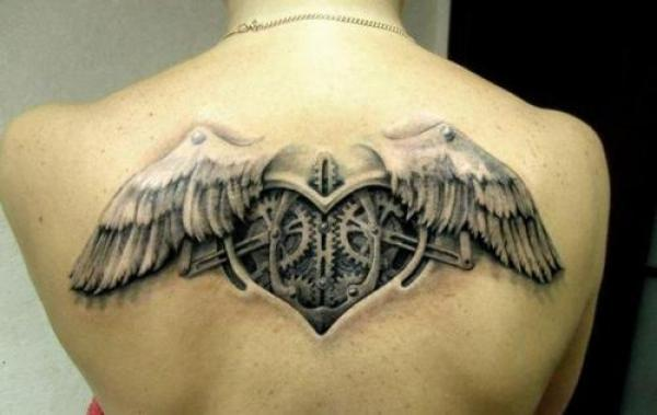 steampunk back tattoo 2