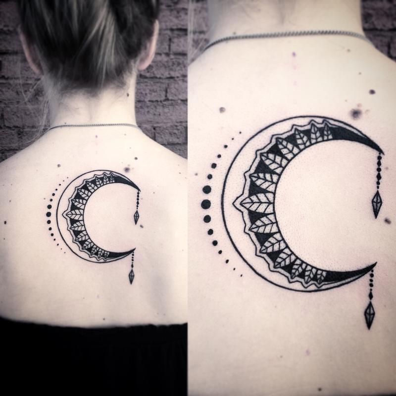 tribal moon tattoo 10