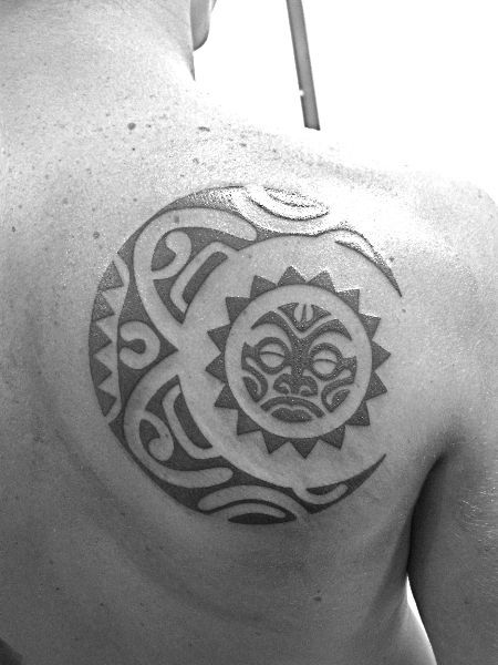 tribal moon tattoo 7