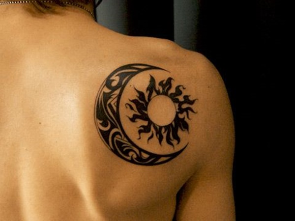 tribal moon tattoo 8