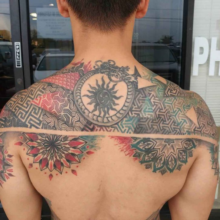 upper back tattoo 3
