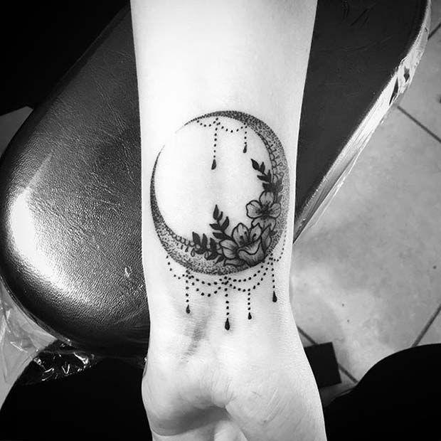 women moon tattoo 2