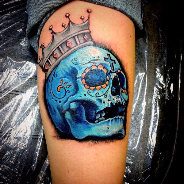 3d sugar skull tattoo 2