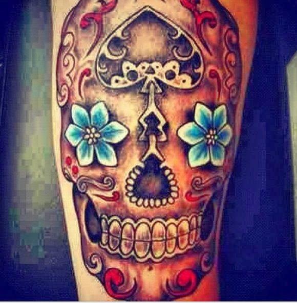 3d sugar skull tattoo 3