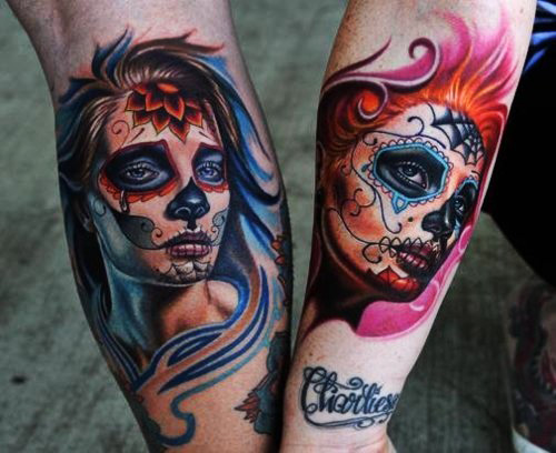 3d sugar skull tattoo 6