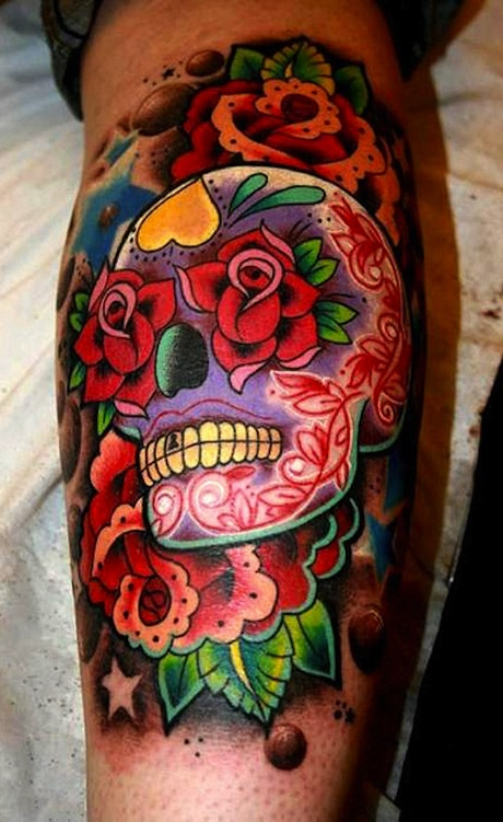 3d sugar skull tattoo 7
