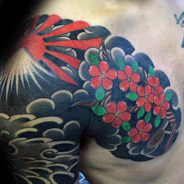 Japanese Sun Tattoo 1
