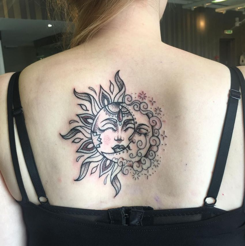 Moon & Sun Tattoo 1
