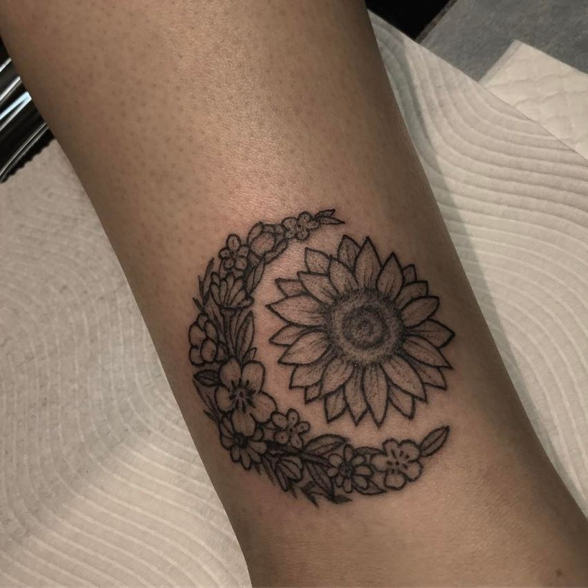 Moon & Sun Tattoo 4