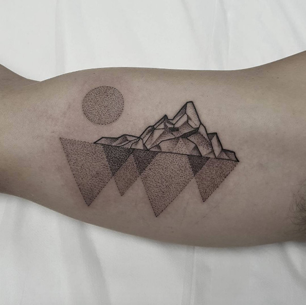 Mountain range tattoo 1