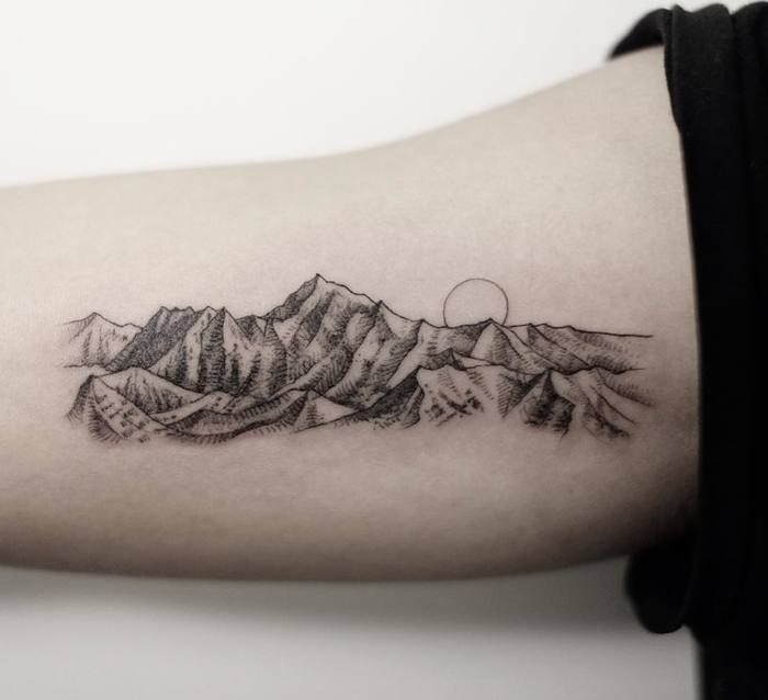 Mountain range tattoo 2