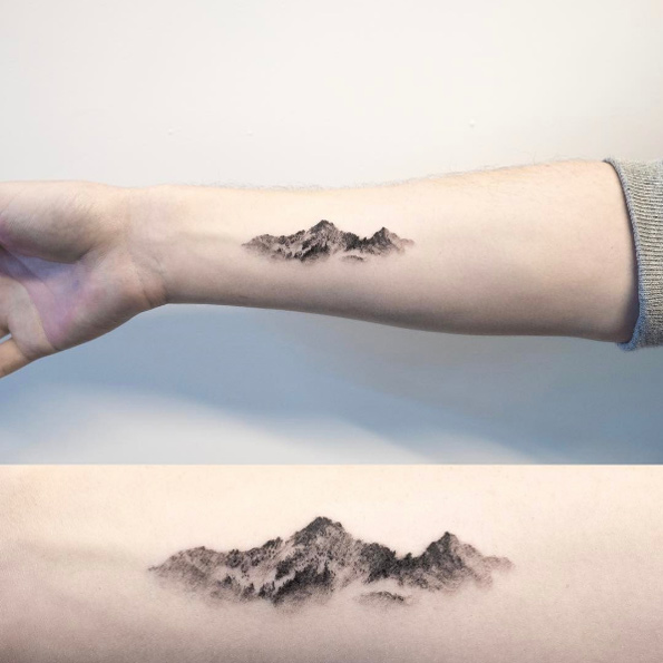 Mountain range tattoo 3