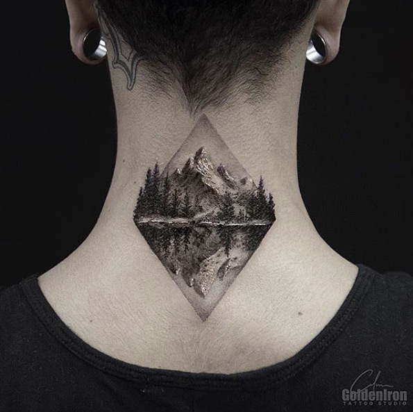 Mountain range tattoo 4
